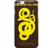 No127 My FROM DUSK TILL DAWN minimal movie poster iPhone Case/Skin