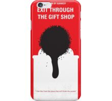 No130 My Exit Through the Gift Shop minimal movie poster iPhone Case/Skin