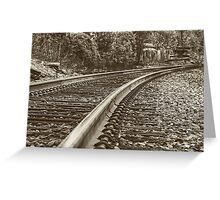 Commuter view Greeting Card