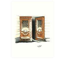 DOORWAY IN ST. PETERSBURG/Oil on canvas Art Print