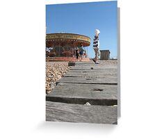 Brighton, UK - seaside life Greeting Card