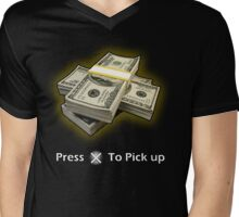 Press X To Pick Up Mens V-Neck T-Shirt