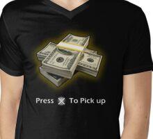 Press X To Pick Up Mens V-Neck T-Shirt