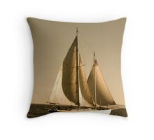 Schooner Late Afternoon Throw Pillow