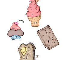 Sweet Treat Cuties by riaartworld