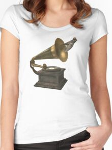 Vintage Songbird  Women's Fitted Scoop T-Shirt