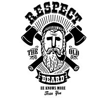 Respect The Beard Photographic Print