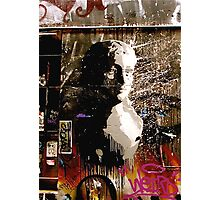 Graffiti Bust Photographic Print