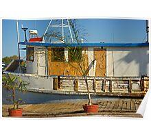 Old Fishermen Boat at Sponge Docks, Tarpon Springs, Florida Poster