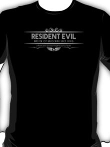 Resident Evil - Art Deco White T-Shirt
