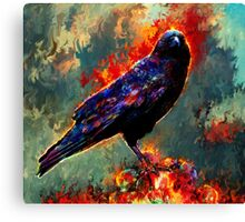 game of thrones raven Canvas Print