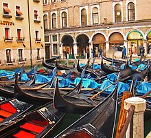 Gondolas in Venice by Al Bourassa