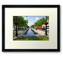 Downtown Saturday Framed Print
