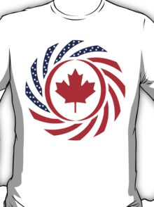 Canadian American Multinational Patriot Flag Series 1.0 T-Shirt