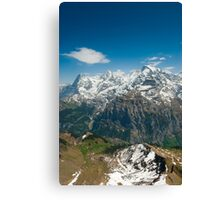 Eiger, Mönch and Jungfrau Canvas Print