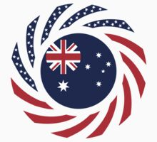 Australian American Multinational Patriot Flag Series by Carbon-Fibre Media