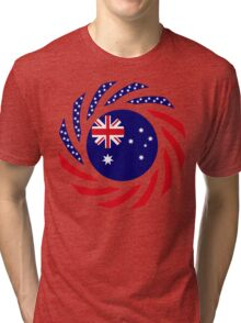 Australian American Multinational Patriot Flag Series Tri-blend T-Shirt