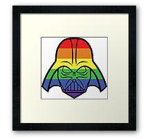 Rainbow Darth Vader Framed Print