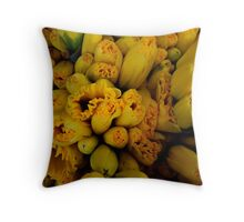Squashed Daffies Throw Pillow
