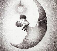 A Midnight Read by riaartworld