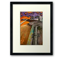 Athens Greece Bus Barn Art Framed Print