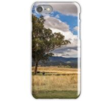 Rural View on Gundy Road, Scone NSW, Australia iPhone Case/Skin