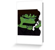 emo pepe meme Greeting Card