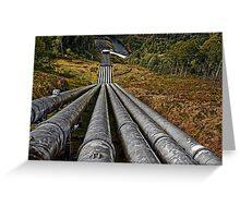 Tarraleah Penstocks Lookout Greeting Card