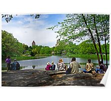 Quiet moment in Central Park, Manhattan, New York Poster