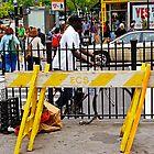 Crossing in New York City by Zal Lazkowicz