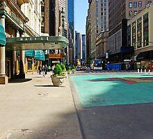 Weekend on Broadway Avenue in Manhattan, New York  by coralZ