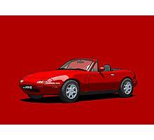 Mazda MX-5 MK1 Classic Red Photographic Print