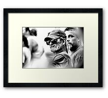 Faces in the Crowd Framed Print