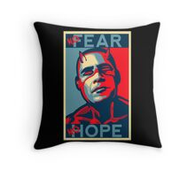 A man with no fear... Throw Pillow