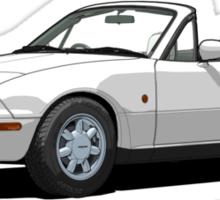 Mazda MX-5 MK1 Crystal White Sticker