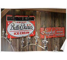 Better Dairies Ice Cream Sign Poster