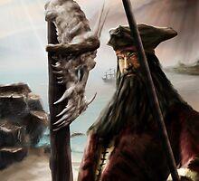 Pirate on dragon Island by Speedpainter