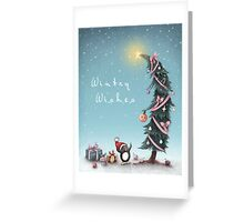 A Critter Christmas Greeting Card