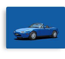 Mazda MX-5 MK1 Mariner Blue Canvas Print