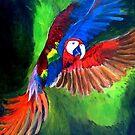 Flying Parrot by ienemien