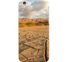parched ground in the Aravah desert, Israel iPhone Case/Skin