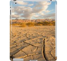 parched ground in the Aravah desert, Israel iPad Case/Skin