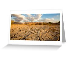 parched ground in the Aravah desert, Israel Greeting Card