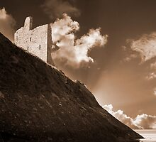 ballybunion castle and the cliff face by morrbyte