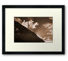 ballybunion castle and the cliff face Framed Print
