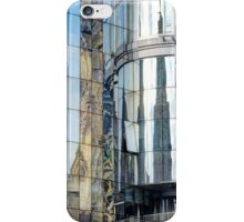 Reflections of the buildings in Stephansdom, Vienna, Austria iPhone Case/Skin