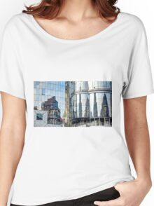 Reflections of the buildings in Stephansdom, Vienna, Austria Women's Relaxed Fit T-Shirt