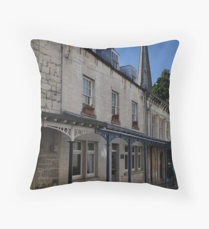 The Shambles in Stroud Throw Pillow