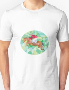 Equestrian Show Jumping Oval Low Polygon T-Shirt