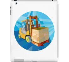 Forklift Truck Materials Box Circle Low Polygon iPad Case/Skin